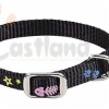 Cat collar with paws & fish imprints