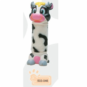 Rubber Dog Toy:Vinyl toy with plush
