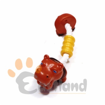 Rubber dog toy/Vinyl toys - with cotton rope tug