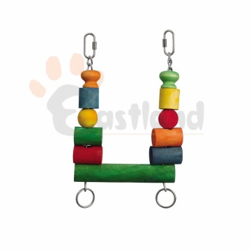Swing with colorful blocks