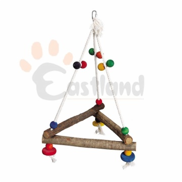 Swing, hanging triangular, cotton rope