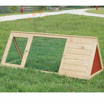 Wooden triangular hutch,collapsible