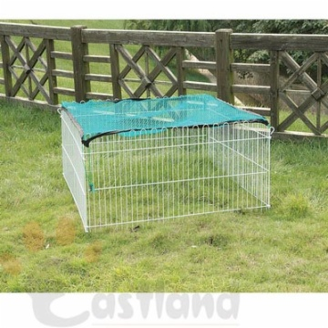 Metal fence with net for rodents